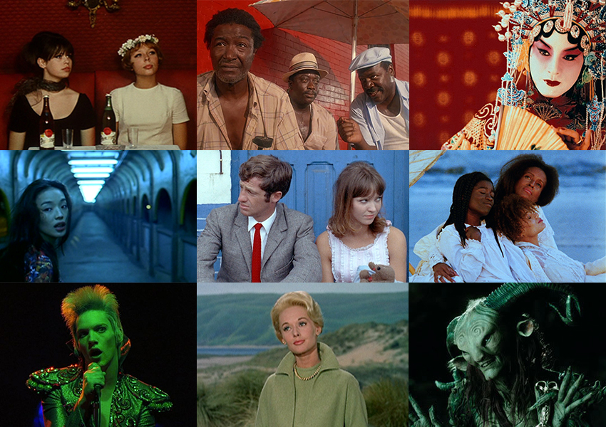Daisies, Do the Right Thing, Farewell My Concubine, Millennium Mambo, Pierrot le Fou, Daughters of the Dust, Velvet Goldmine, The Birds, Pan's Labyrinth