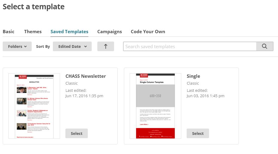 Department Of Information Technology NC State - Mailchimp create template from campaign