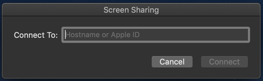 Screen Sharing Dialog