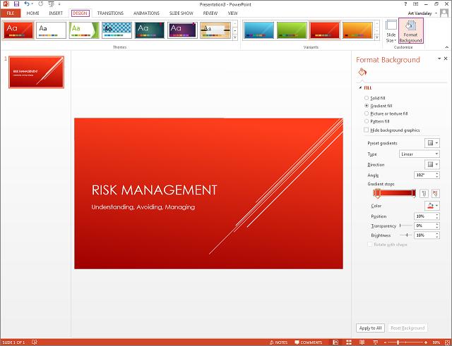 using slide design templates - department of information, Presentation templates