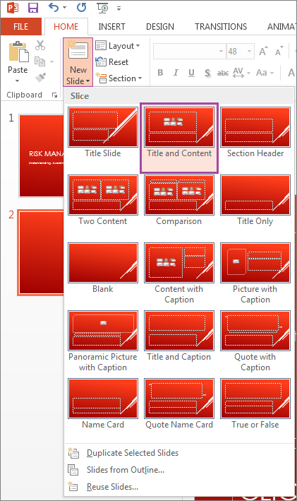 changing slide layouts hss it nc state