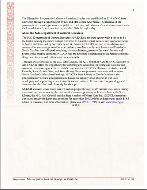 Page 3 of Press Release