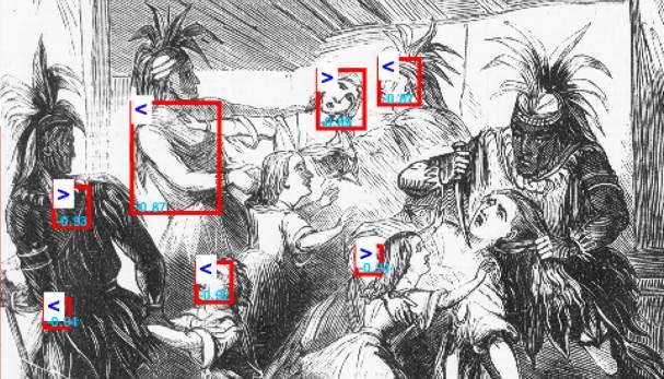 Face detection errors in a sensational illustration