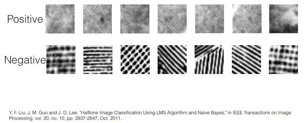 Positive and negative results for halftone identification